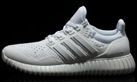 Wholesale 2016 New Arrivals Yeezy YZY Ultra Boost White Black Men Running Shoes
