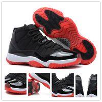 carbon black - Authentic Carbon Fiber Retro XI High Bred Men s Sports Basketball Shoes Black Varsity Red