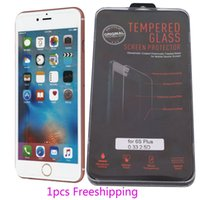 Wholesale For Iphone S Iphone S Plus Tempered Glass Screen Protector Retail box mm H D Explosion Proof Guard Epacket FreeShipping
