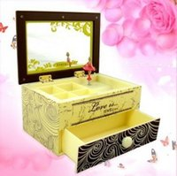 ballerina music - FBH040233 Music box Girls birthday gift mirror jewelry box ballerina Rotation beautiful yellow