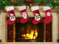 Wholesale Christmas Ornaments For Garden - New 2015 Christmas stockings Elderly snowflake snowman socks Suitable for loading candy apple Christmas decorations Home & Garden Festive