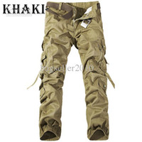 100% Cotton army combat pants - Hot Sales Pants Men Cool Casual Military Army Cargo Camo Combat Work Pants Trousers R48 smileseller