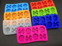 Wholesale Skull Fish Bone Mold Silicone Ice Tray Mold Cube Tools Ice Cream Chocolate Cookies Cupcake Mould Tray Maker Ice Cream Tools