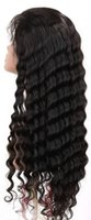 beauty hand knotted - Beauty deep wave lace wig for black women Lace Front Wig With Bleached Knots Natural hair line lace front wig in Stocks