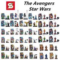 abs plastic block - The avengers action figures Bricks Styles minifigures star wars Model Toys Environmental ABS plastic building blocks toys