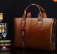 Wholesale ZEFER genuine leather bag male briefcase portfolio men messenger bags business handbag shoulder bag fashion men s travel bags