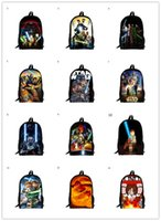 Wholesale 2015 inch Cartoon Bags Children School Backpack Star wars Bag For Kids Boys and Girls Types