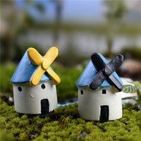Wholesale Mini Resin Windmill Castle Micro Landscape Garden Bryophytes Potted Plant Decoration Ornaments DIY Resin Accessories x3 CM