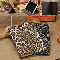 apple leopard support - Apple ipad5 air mobile phone protection shell leopard protective sleeve support smart card left open