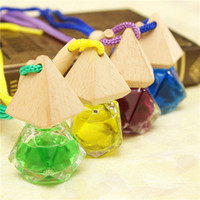 automotive glass supplies - New Diamond Shaped Glass Car Perfume Ornaments Automotive Supply Peach Flavor Scent