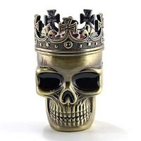 alloy pipe suppliers - Znic Alloy Skull Shape Herb Grinder Hand Muller parts mm rolling paper shisha bong smoking pipe vaporizer and so on supplier