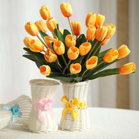 fruit gift baskets - 16 cm Plastic Artificial Rattan Flower Basket Roses Fruits Candy Storage Vase Garden Wedding Party Decoration Gift Square