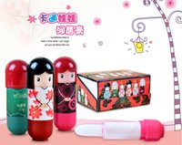 Wholesale Lip Balm Cute Japanese doll lip balm moisturizing Pure natural plant Comfortable Fresh Fruit Favor Lipstick Lipsticks Lip Gloss
