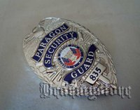 big black security - light Empire American outstanding security guard silver metal badge big Badge