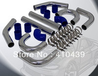 aluminum mandrel bends - T6063 Aluminum Piping Kits mm Mandrel Bent Rolled Alloy Bend Blue Silicone Hose T Bolt Clamp High Performance Car Part
