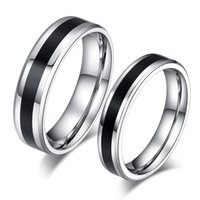 Wholesale Fashion L Stainless steel Ring for Men And Women The lord Of The Rings Center Cool Black mm Wide IR106 Men Ring