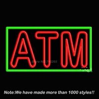 atm neon sign - ATM Handcrafted Neon Sign Neon Bulbs Recreation Room Garage Real Glass Tube Handcraft Best Gifts Beer Pub Store Display x20