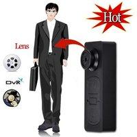 Wholesale New Spy Button DV Mini Hidden Camera Button Audio Video PC DVR Voice Recorder DVR Cam Digital Camcorders
