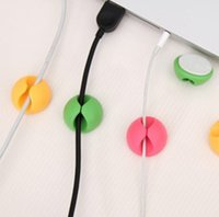cable tidy - 6Pcs Clip Tidy Wire Drop Lead USB Charger Cord Holder Cable Wire Organizer Drop shipping
