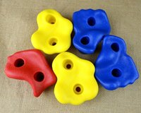 plastic playground - Climbing Rock Wall Kit Stones Hold Grips Playground Playset Hardware Screws Included