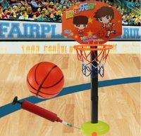 Cheap Kids Toddler Baby Children Outdoor Indoor Sports Train Adjustable Basketball Hoop Toy Set Stand Ball Backboard Net
