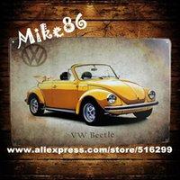 art deco posters - Mike86 Yellow VW Car Classic Metal Plaque Poster PUB Wall art deco Craft Bar Decor AA Mix order CM