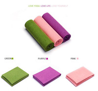 Wholesale 2016new style microfiber yoga towel with latex non slip backing hot yoga mat towel machine wash yoga mat towel