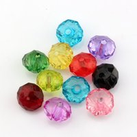 10mmx6mm acrylic faceted beads - Hot Mix Color Acrylic Transparent Faceted Spacer Beads MM
