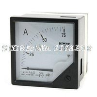 Cheap Wholesale-Class 1.5 Accuracy Square Shape AC 75A Ampere Ammeter Meter Panel 6L2