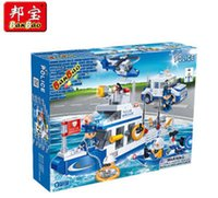 plastic building blocks toys - 24PCS Police Series DIY Coast Guards Educational Plastic Building Blocks Toy For Kids Christmas Halloween gift HL