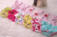 Wholesale New Lovely cotton straps dog physiological pants Pet underwear harassment prevention menstrual trousers suspenders