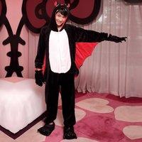 bat kigurumi - Bat Kigurumi Pajamas Anime Suits Cosplay Outfit Halloween Costume Adult Garment Cartoon Jumpsuits Unisex Animal Sleepwear