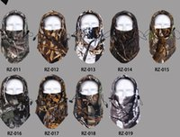 Wholesale Winter Thermal Camo Camouflage Warm Fleece Balaclava Motorcycle Hunting Wind Ski Cap Hat Snowboard Full Face Mask Beanies