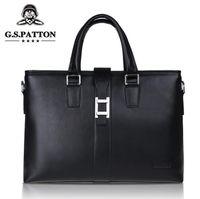 Wholesale Hot Sell Horizontal Vertical Design Famous Brand Business Men Genuine Briefcase Bag Luxury Leather Laptop Bag for Men Handbag