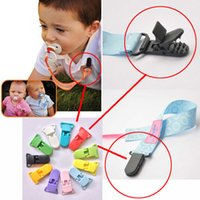 Wholesale 500pcs mm Baby Pacifier Clip Plastic Clip Infant Plastic Pacifier Clip Holder Toddler Transparent Soother Clip For newborn HX