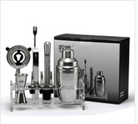 Wholesale Stainless steel cocktail shaker set japanese style shaker cup tools gift box High quality cocktail shaker Bar supplies ml