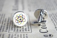 atomic gifts - 10pairs Atomic Symbol Jewelry Atom Cufflinks lds Mormons ctr Cuff Gift for Him Round Glass Cuff