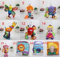 Wholesale 5pcs Lamaze Crib toys with rattle teether infant early development plush toy Lamaze Toy