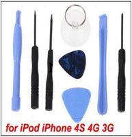 Wholesale in Screwdriver Sucker Pry Repair Opening Tool Kit Set For Apple iPhone S G S C