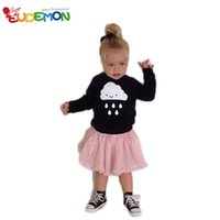 Wholesale Eudemon INS Fashion Style Baby Sweater Black Long Sleeve Little Raindrops Boys Knitwear New Brand Girls Winter Sweaters