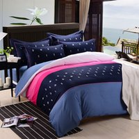 Cheap Embroidery cotton bedding a family of four active cotton linens wedding quilt factory direct wholesale