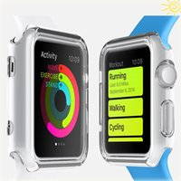 Cheap Iwatch Case Translucent TPU Silicone Smart Watch Case Dirt-resistant Drop resistance Mini Smartphone Wrist Watch protecting jacket 38mm 42mm
