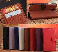 Leather For Samsung For Christmas 2015 HOT sale Litchi Grain Flip Cover Card Wallet Stand Holster Case For Samsung Galaxy Note 3 N9000 N9005 N9002