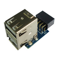Wholesale SMAKN Pin Motherboard USB Header to Ports USB A Female Adapter converter