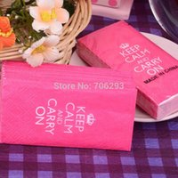Wholesale 10 pcacks MMX210MM Small tissue paper napkin paper printing handkerchiefs for wedding birthday favors gift with pink color