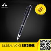 als free - new hot sales ALS GB Digital Voice Recorder Pen MP3 Button Control Black amp Silver