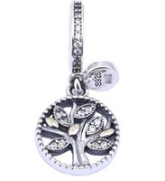 Wholesale 100 Sterling Silver Charms Ale Rhinestone Tree of Life Dangled European Charms for Pandora Bracelets Acessories DIY Beads