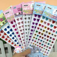Wholesale China scrapbook supplies crafts accessories scrapbooking embellishments heart shapes sticker self adhesive gems heart gem sticker