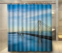 bay leaves - Home Bathroom Docors Oakland Bay Bridge Shower Curtain cm Waterproof Polyester Bath Curta