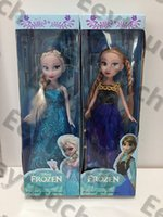 Wholesale Frozen Movie inch CM Princess Queen Barbie Two braid Anna Elsa Doll Toys Hot in good cloth inch quot CM